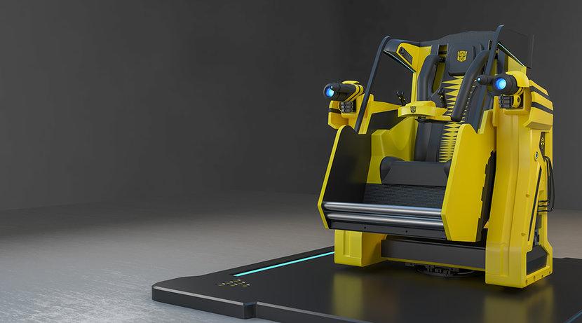 RobocomVR, Transformers, Immersive gaming, Hasbro, VR simulator